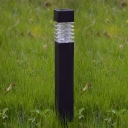 Real Simple Black 16'' H Plastic Solar Powered Rectangle  Exterior Pathway Lighting