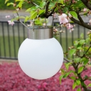6 '' Wide Solar Powered Cold White LED Outdoor Portable Camping Tent Decorative Lighting