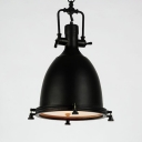 Frosted Diffuser Dome Pendant Light Industrial Style 14.5