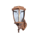 Unique Design Antique Copper Simple Style 7'' W Small Garden Outdoor Solar LED Wall Light
