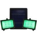 Green Light Dual Head 45 LEDs Super Bright Garden Solar Flood Light Landscape Lighting