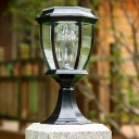 Graceful Black  14'' H Small Solar LED Post Light Garden Lighting