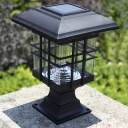 Chic Black 8 Inches High Abs Mini Solar 3 LED Garden Post Light