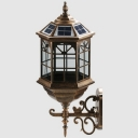 Vintage Style 9 Inches Wide Decorative Outdoor Solar LED Wall Light