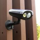 Solar Powered Motion Sensor Security Wall Light Spotlight Can Spin Around 160 Degree