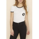 Personality Round Neck Short Sleeve Graphic T-Shirt