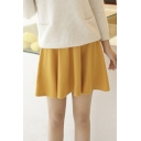 Fashion Women A-line Gathered Waist Mini Skirt