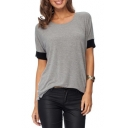 Fashion Women's Casual Round Neck Short Sleeve T-Shirt