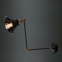 Vintage Black 1 Light Adjustable Wall Bracket