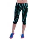 Fashion Women Elastic Waist Print Crop Yoga Sports Leggings