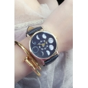 Galaxy Pattern Leather Quartz Watch Water Resistance