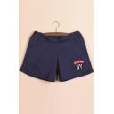 Fashion Women Drawstring Graphic Sports Hot Pants Shorts