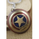 Super Hero Captain America Shield Pendant Metal Key Chain