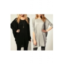 Women's Loose Fit Long Sleeve Tunic Top