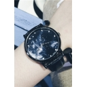 Galaxy Pattern Leather Quartz Watch
