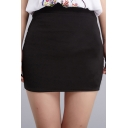 Fashion Women Zipper Fly Tube Tight Fit Mini Short Skirt