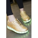 Popular LED Shoes USB Charging Flat Heel Comfort Round Toe Fashion Sneakers