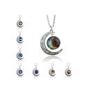 Hot Popular Metal Gemstone Galaxy Women's Necklaces