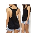 Scoop Neck See-through Racerback Women's Summer Tank