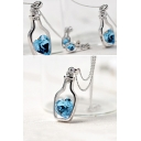 Make Wishes Crystal Alloy Metal Lovers Necklaces