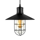 Nautical Style 1 Light 10'' Wide Pendant Light with Metal Shade