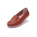 Women's Leather Slip On Loafer Shoes