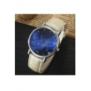 Popular Galaxy Pattern Leather Quartz Water Resistance Watch