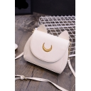 Fashion Women Moon Cat Ears Shoulder Bag PU Leather Crossbody Envelope Bag