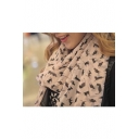 Cat Print Women Scarf Work/Casual