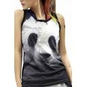 Women's 3D Printing Panda Pattern Tank Tops Vest