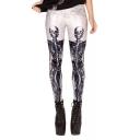 Elastic Waist Skull Print Chic Leggings