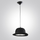 "Elegantly Gentleman Black Hat Designer Pendant Light in 11.8""Wide"