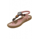 Women's 2016 Summer Shoes Leatherette Flat Heel Comfort Sandals