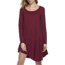 Women's Casual Loose Fit T-Shirt Tunic Dress