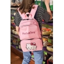 Canvas Cute Cat Print Backpack Girls Women For School and Laptop