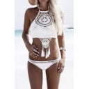 Fashion Backless Hollow Design Sexy Lady's Bikini Swimwear