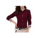 Women's Floral Print V Neck Cut-out Long Sleeve Shirt