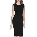 Womens Elegant Vintage Ruched Wear To Work Business Casual Pencil Dress
