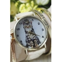 Women's Fashionable Cute Cartoon Cat Print Watch