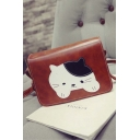 Cute Cat Women Shoulder Bag PU Leather Crossbody Envelope Bag