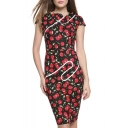 Women Pinup Tunic Wear To Work Business Party Pencil Sheath Dress