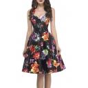 Women 50s Dress Halter Vintage Dresses