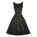 Women's 1950s Style Rockabilly Swing Vintage Dresses Party Dress