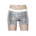 Fashion Sexy Sequins Elastic Stretch Hot Pants Club Mini Shorts Pants