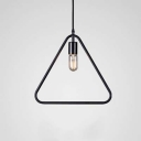 14'' W Rust Iron Single Light Triangle 1 Lt LED Hanging Pendant