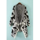 Women's Knitted Asymmetrical Hem Open Front Cardigan
