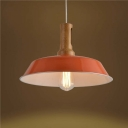 Industrial 1 Light Orange Finished Warehouse LED Pendant Light in Small/Big Size