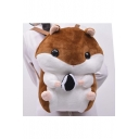 Cute Cartoon Hamster Shaped Young Style School Bag/Travel Bag/Casual Bag