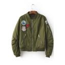 Cool Girl Zip Detail Long Sleeve Jacket