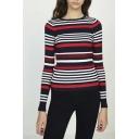 Women's Striped Color Block Skinny knitwear